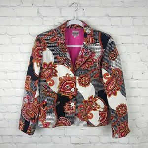 Chico's Textured Abstract Paisley Blazer Size 0/4